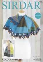 Sirdar Colourwheel DK - 8082 Wrap & Scarf Crochet Pattern
